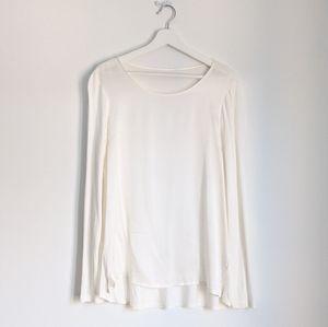 OUI brand Long Sleeve Silk top 8US